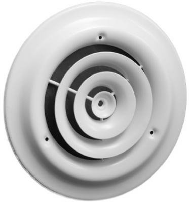 American Metal Products 1500W6 6-Inch White Round Ceiling Diffuser Ceiling, Wall & Floor Diffusers
