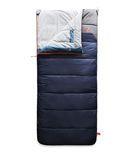 The North Face Youth Dolomite 20F/-7C, Cosmic Blue/Zinc Grey, Regular (Face Down Bag North Sleeping)