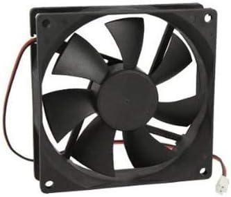 Sale Black Plastic Square 9025 90 x 90 x 25mm DC 12V 0.25A Cooler Fan Value-5-Star