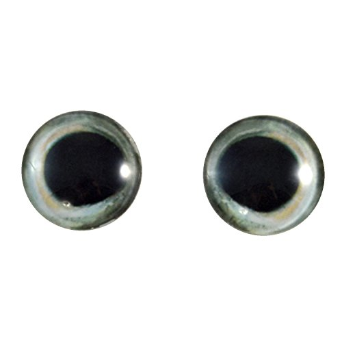 Pair of Skipjack Tuna Fish Eyes 30mm Glass Eye for Taxidermy Sculptures or Jewelry Making Pendants Crafts Art Doll Wire Wrapping DIY Flatback Cabochon