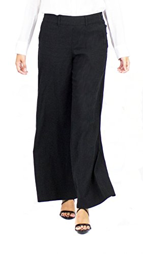 (Lauren by Ralph Lauren Wide Leg Nautical, Black, 8)