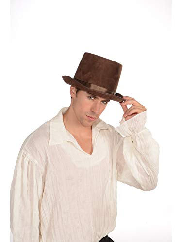 Forum Novelties Men's Brown Top Hat Accessory, brown, Standard 70923]()