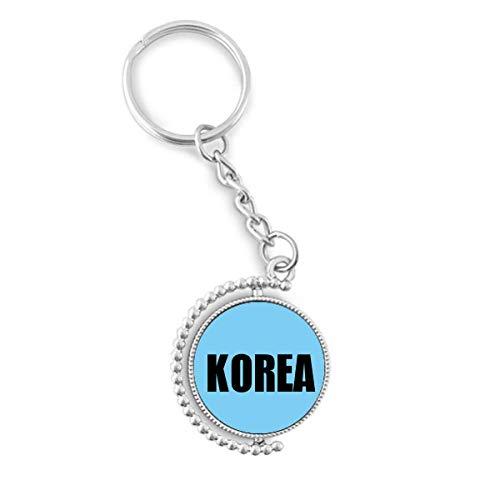 Korea Country Name Rotatable Key Chain Ring Keyholder