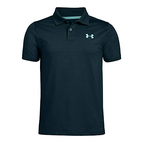 Under Armour boys Performance 2.0 Golf Polo, Batik (366)/Neo Turquoise, Youth Medium