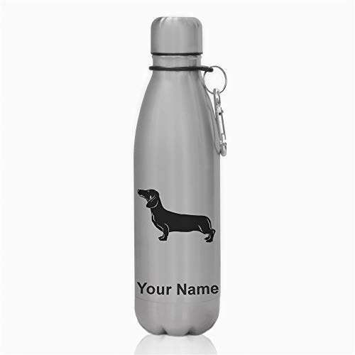 Water Bottle, Dachshund Dog, Personalized Engraving Included