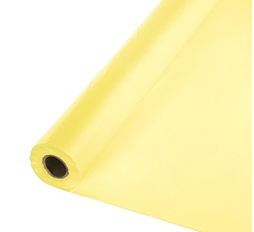 Creative Converting Roll Plastic Table Cover, 100-Feet, Mimosa - 13014