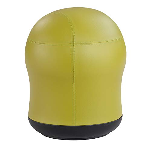 """Safco Products Zenergy Swivel Stability Exercise Ball Chair, 23"""" H, 360-Degree Turn, Green Vinyl"""