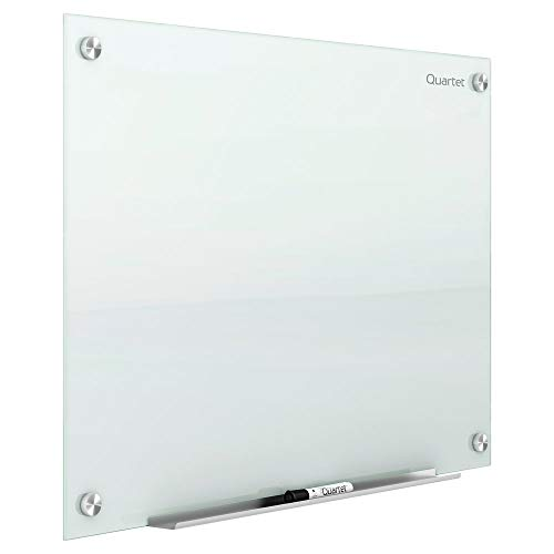 Quartet Glass Whiteboard, Magnetic Dry Erase White Board, 8 x 4 feet, Infinity, White Surface (G9648W-A)