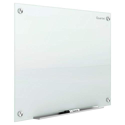 Quartet Glass Whiteboard, Magnetic Dry Erase White Board, 6 x 4 feet, Infinity, White Surface (G7248W)