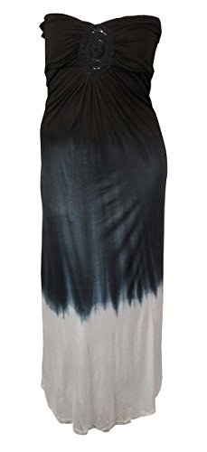 Raviya Strapless Ombre Maxi Dress Cover up Dress Multi Large