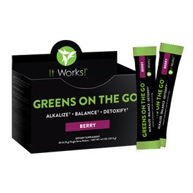 It Works! Greens On The Go, 10 Count, Berry By It Works