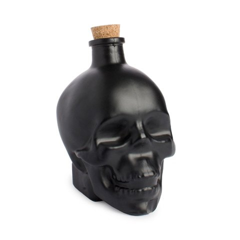 Darice Black Skull Bottle Cork: Glass - 3.54 x 4.92 inches