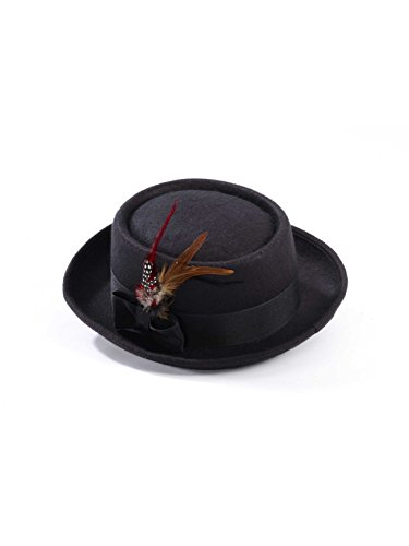 Forum Men's Novelty Deluxe Pork Pie Hat, Multi, One Size