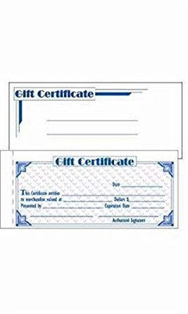 New Retails pc-13749-616 Gift Certificate Kits 7W x 3.375 H by Gift Certificate Kits