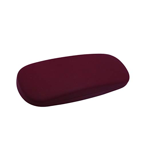 Hard Shell Eyeglass Case, Protective Case for Glasses and Sunglasses, Maroon, By OptiPlix