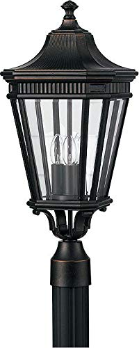 Feiss OL5407 Traditional 3 Light Post Lantern from the Cotswold Lane Collection, Grecian -