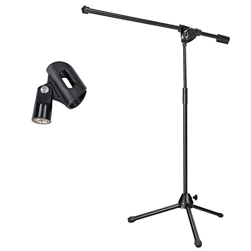 microphone stand mic clip rotating
