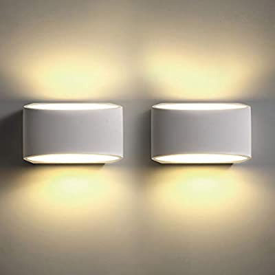 LED Wall Sconces Set of 2, Sconce Wall Lighting 9W 3000K Warm White Modern Wall Light for Stairway Bedroom Hallway Porch Living Room Hotel (2 Pack)