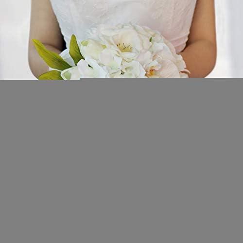ウェディングパーティーブライダルブライドメイドブーケローズチューリップ蘭手結ばれた花