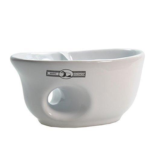 Pfeilring Germany Golddachs Ceramic Shaving Mug with Brush Rest, Made in Germany, (Germany Ceramic)