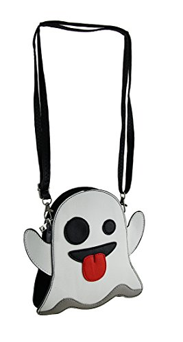 Silly Specter Taunting Ghost Vinyl Crossbody Purse With Removable Strap