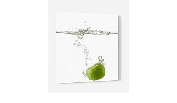 Impresión mural® – Fondo de campana extractora, armario de cocina de cristal sintético con fijación adhesiva