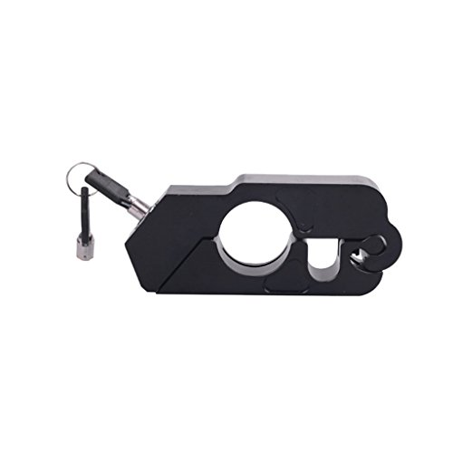 MagiDeal Universal CNC Aluminum Motorcycle Handle Throttle Grip Security Lock with 2 Keys - Black by Unknown (Image #6)