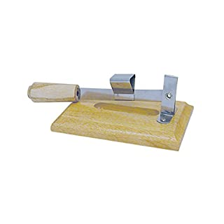 R&M International 3570 Clam Shucker with Stainless Steel Edge and Hardwood Base
