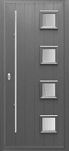 Anthracite Grey Milano Timber Solid Core Composite Door & Anthracite Grey Milano Timber Solid Core Composite Door: Amazon.co ...