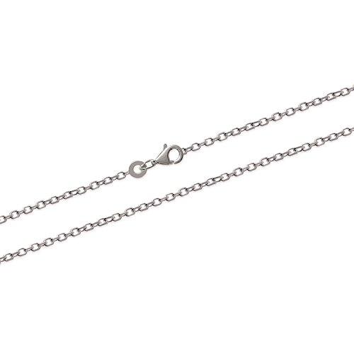 Collier Chaine en Argent 925/000 - Maille Forçat Diamantée 1,5mm - 45 cm