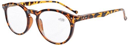 Eyekepper Oval Round Spring Hinges Reading Glasses Tortoise Frame - Tortoise Glasses Round
