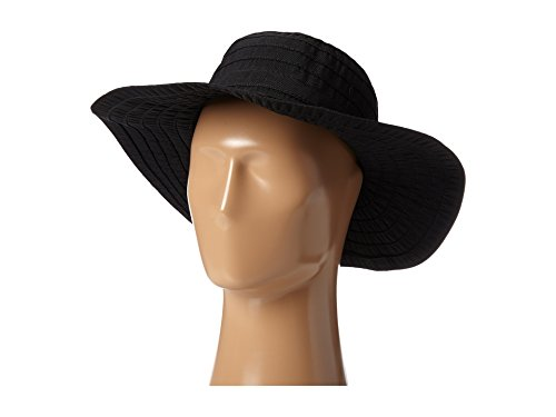 (SCALA Women's Sewn Ribbon Crusher Hat, Black, One Size)