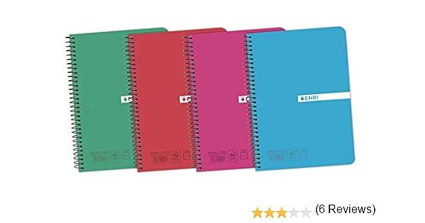 Enri Status - Pack de 5 cuadernos espiral, tapa plástico ...