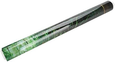 Cartel de Fondo de Tanque de Peces de Acuario Papel Adhesivo de PVC Decoración Papel Verde Agua Estilo Acuático como Real 4