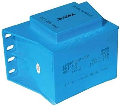 YHDC Transformadores para Montaje en Placa LKB6637 P 60VA Entrada: 110V Salida: 24V