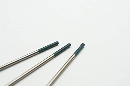 10 pieza TIG Tungsteno electrodos W Verde ø1,6 X 175 mm agujas (sin torio): Amazon.es: Bricolaje y herramientas