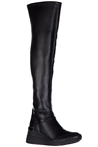 Michael Kors Damen Lederstiefel Stiefel Boots ace stretch Schwarz