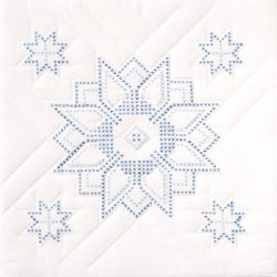 (Jack Dempsey Bulk Buy Stamped White Quilt Blocks 18 inch x 18 inch 6 Pack Stars 732 54 (2-Pack))