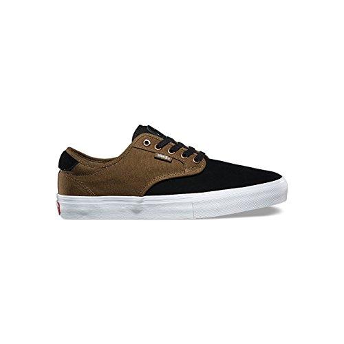 85ef57d30d Vans Chima Ferguson Pro Mens Black Brown Suede Canvas Sneakers Shoes ...