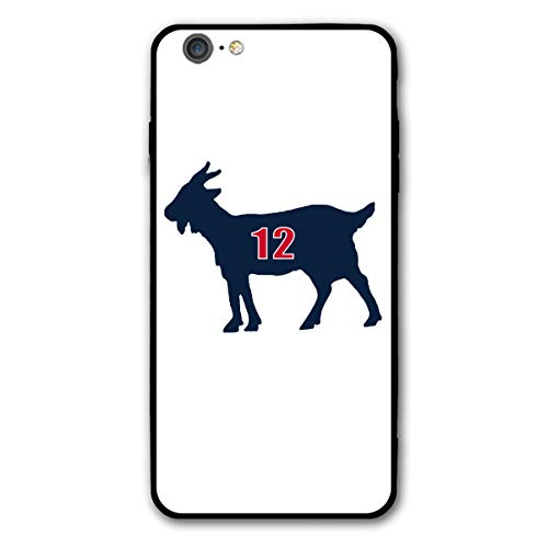 Slim Fit iPhone 6/6s Plus Silicone Case, Blue Navy England Brady Goat Shock-Absorption Anti-Scratch Bumper Cover Dustproof Full Body Drop Protection Cover for Apple iPhone 6/6s Plus