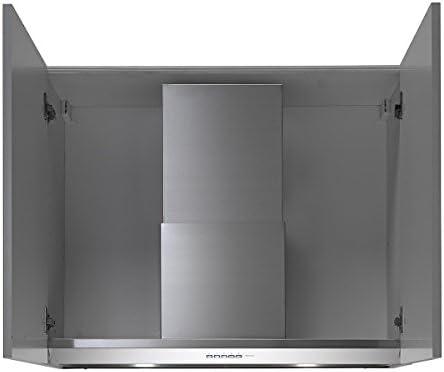 Falmec Virgola Plus - Campana (600 m³/h, 48 Db, 58 Db, Montado en pared, LED, Acero inoxidable): Amazon.es: Hogar