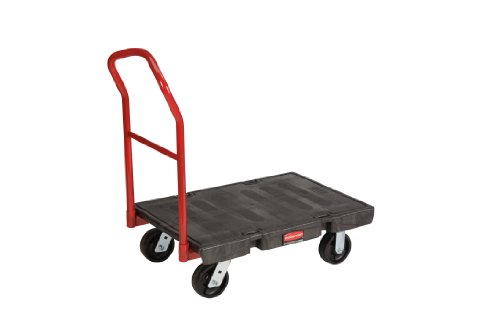 Rubbermaid Plastic Platform Truck - Rubbermaid Commercial FG440600BLA Heavy Duty Platform Truck, Small, 1000-Pound Capacity
