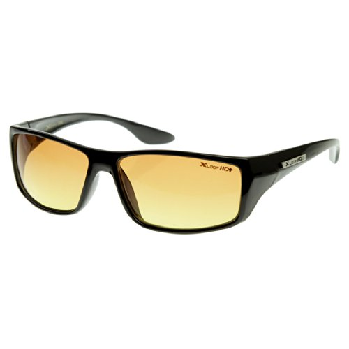 X-Loop - HD Vision Clarity Sports Square Wraparound Official XLOOP Sunglasses (Shiny - Sunglasses High Def