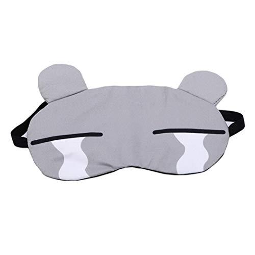 LZIYAN Sleep Masks Cartoon Sleep Eye Mask Soft Cute Eyeshade Eyepatch Travel Sleeping Blindfold Nap Cover,Gray by LZIYAN (Image #1)