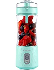 Blen2Go Adventure Portable Blender,Cordless Personal Blender for Shakes and Smoothies, USB Rechargeable Mini Juicer Fruit Juice Cup Mixer, Waterproof Smoothie Blender Maker for Home, Travel, Office