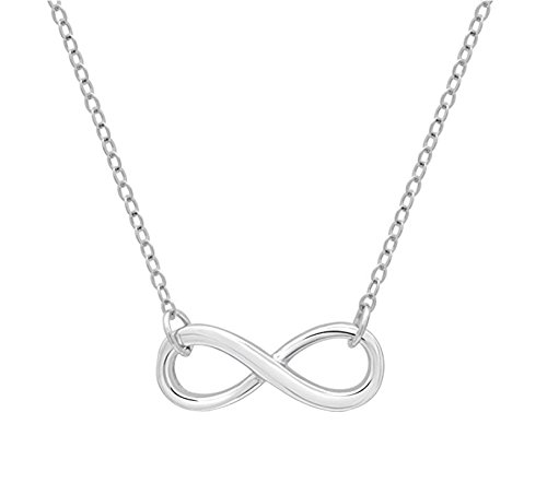 DTLA Friendship Infinity Necklace in Sterling Silver with Inspirational Quote Card - Silver by DTLA Fine Jewelry (Image #2)
