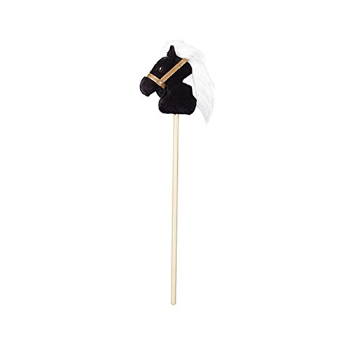 Breyer Plush Stick Horse with Galloping Sound – Black and White Pinto