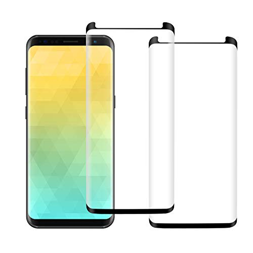 [2 Pack] KZLVN Galaxy S8 Glass Screen Protector,9H Hardness Anti-Scratch Tempered Glass Screen Protector Film for Samsung Galaxy S8