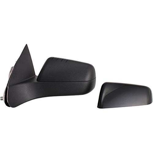 New Front Left Driver Side Power Door Mirror For 2008-2011 Ford Focus Without Heated Glass, With Smooth Cover, Usa Built FO1320318