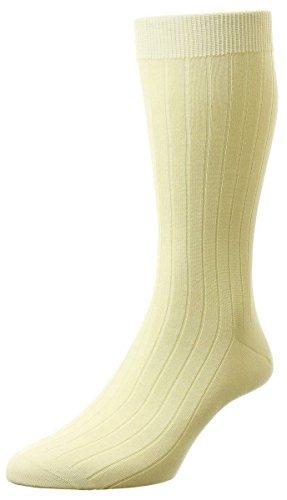 Pantherella Sea Island Cotton - Cream Pembrey Sea Island Cotton Socks by Pantherella - Small